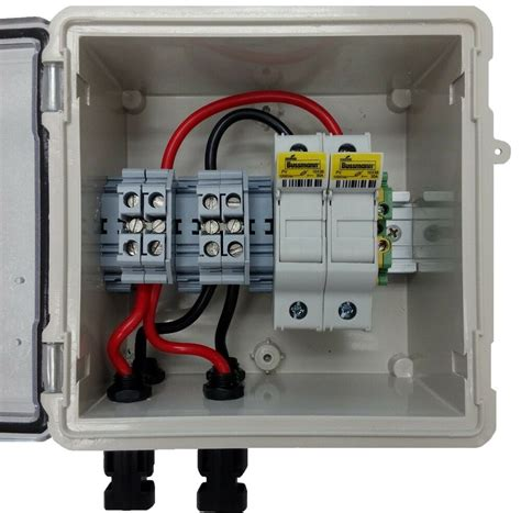 Dc Fuse Box Home by Pv Solar 2 String Dc Combiner Box With 2 Fuses Pre Wired