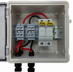 Pv Solar 2-string Dc Combiner Box With 2 Fuses
