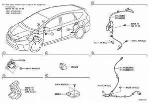 Toyota Prius V Abs Wheel Speed Sensor Wiring Harness  Right   Electrical