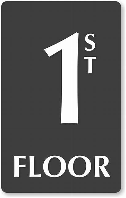 Floor Signs Sign Number 1st Stair Braille