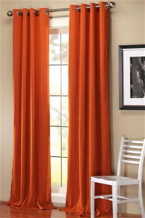 orange curtains