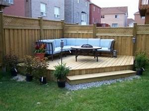 small backyard ideas backyard landscaping gardening ideas With deck and patio ideas for small backyards