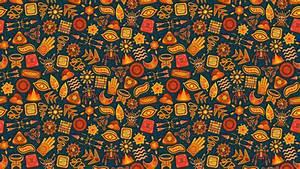wallpaper 3840x2160 pattern symbols ethnic