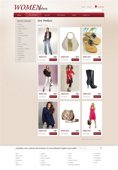 shopping website template  ecommerce website