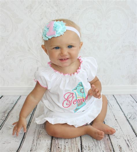 teal color clothes birthday baby 1st birthday 1st