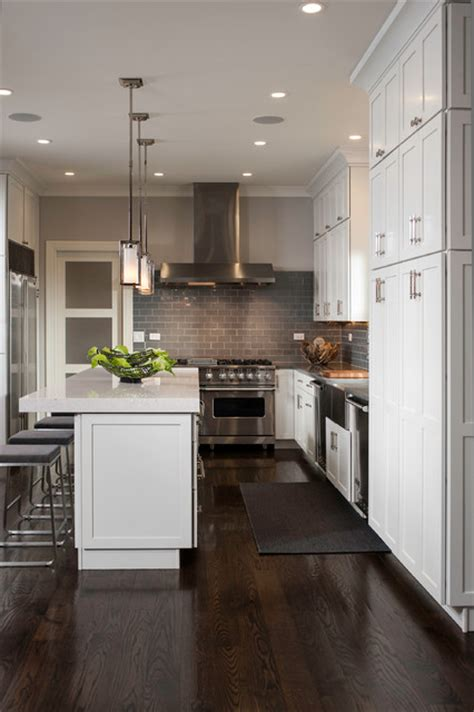 industrial contemporary transitional kitchen chicago