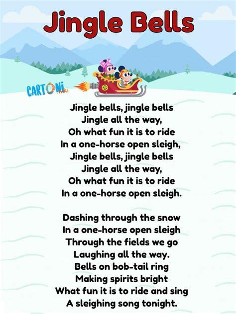 jingle bells testo inglese natale stampare cartoni wiki bell bambini stampa animati