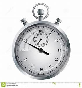 Manual Mechanical Stopwatch  Stock Vector