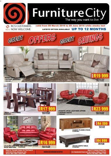 furniture city furnure specials  mar   jun