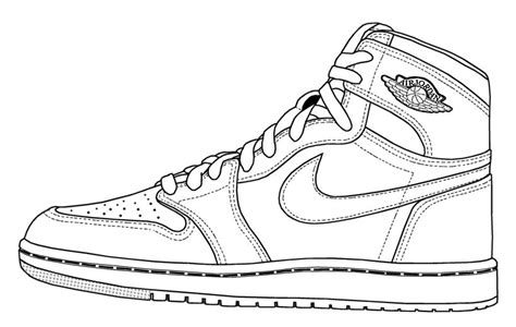 Coloring Nike Air 1 by Basketball Shoe Coloring Pages Free Coloring Pages