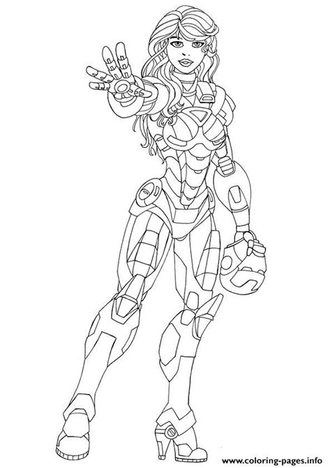 print pepper potts a4 avengers marvel coloring pages