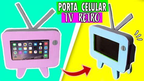 PORTA CELULAR TV RETRO Ɩ DIY SOPORTE PARA CELULAR ♡ SOY