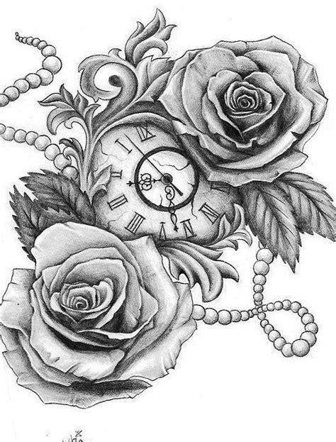 10GB | Tatuajes de relojes, Tatuajes de rosas y Reloj tattoo