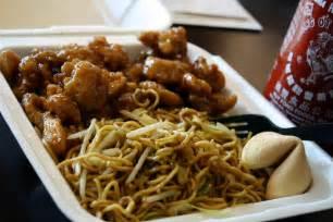 Panda Express Orange Chicken and Chow Mein