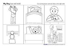 daily routine worksheet images daily routine
