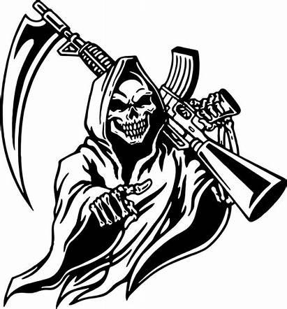 Reaper Grim Gun Decal Skull Vinyl Machine