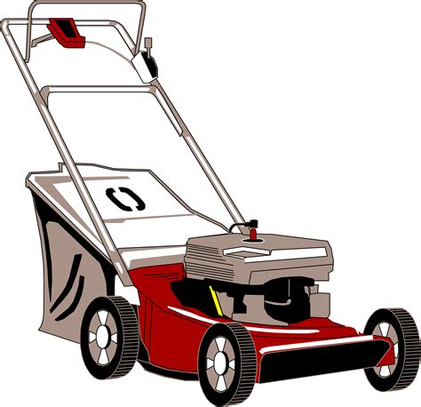 Lawn Mower Clip Clipart Lawnmower With Bagger