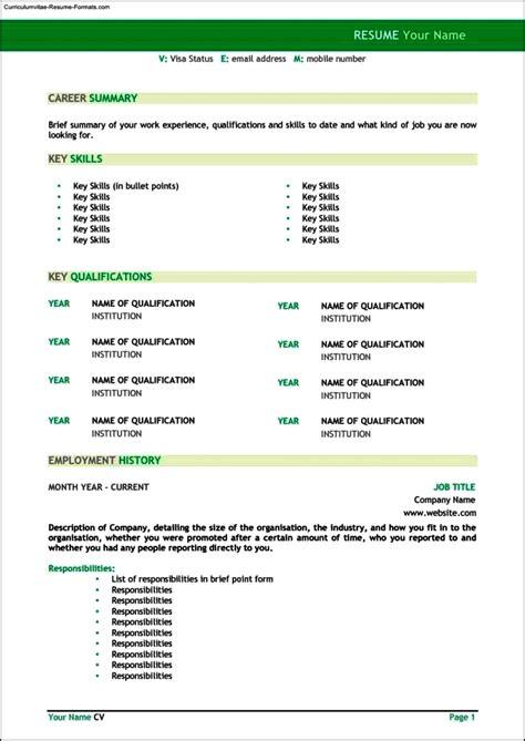 resume templates australia free sles exles