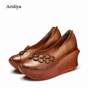 Artdiya 2018 Spring And Summer Women Shoes Thick Sole