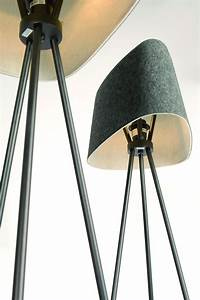 Tom Dixon Lamp : felt shade floor lamp grey by tom dixon ~ Markanthonyermac.com Haus und Dekorationen