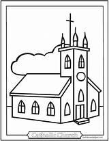 Coloring Church Catholic Pages Mass Sheet Parts Easy Kindergarten Sheets Children Worksheet Simple Bible Colouring Printable Churches Roman Saintanneshelper Symbols sketch template