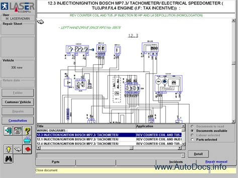 Peugeot 206 Wiring Diagram Software by Peugeot Parts And Repair 2006 Parts Catalog Repair Manual