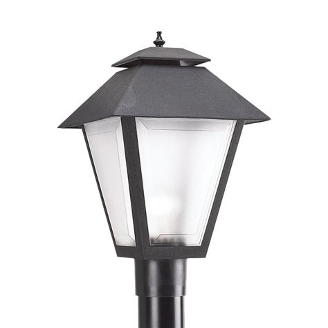 lowes l post lights shop sea gull lighting 18 in h black post light at lowes com