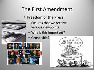 Freedom of the Press in the First Amendment ...