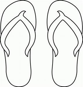 printable coloring pages flip flops coloring home With flip flops