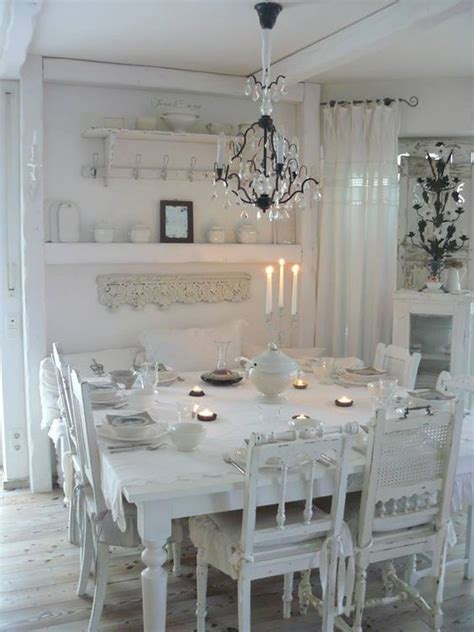 white shabby chic dining room sets large square table and mismatched chairs love it room needs more gray too white for me pinteres