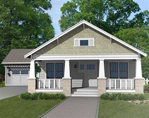craftsman bungalow  attached garage ph architectural designs house plans