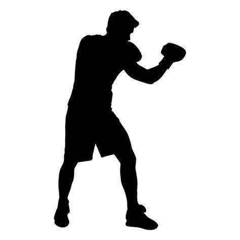 silueta de guardia de jugador de boxeo descargar pngsvg