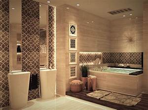 Luxurious, Bathroom, Designs, With, Stunning, Decor, Details, Looks, Very, Charming