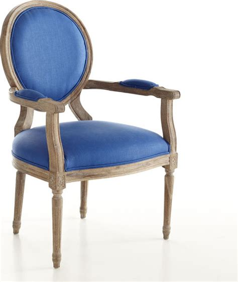 louis xvi end chair royal blue traditional armchairs