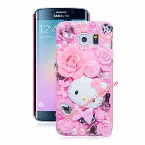 Cute Hello Kitty Case For Samsung Galaxy S7 edge S6 S4 S5 ...