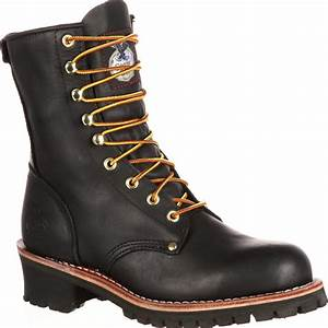 Blundstone Boots Size Chart Men 39 S 8 Quot Black Logger Work Boots Georgia Boot Style G8120