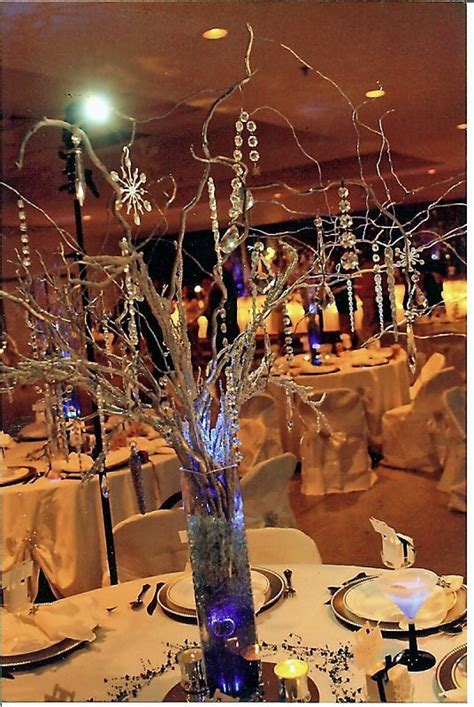 manzanita branch wedding centerpieces with led