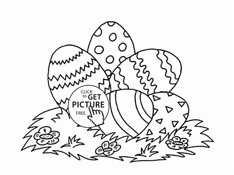 Preschool Easter Coloring Pages Printable