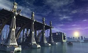 futuristic sea port wallpaper faxo faxo