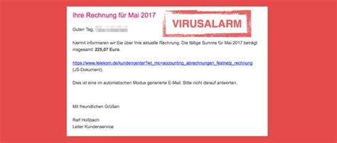 viruswarnung  mail rechnungonline mai  ist spam