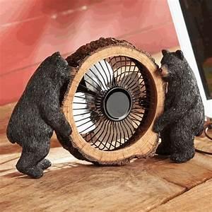 Black Bear Table Fan