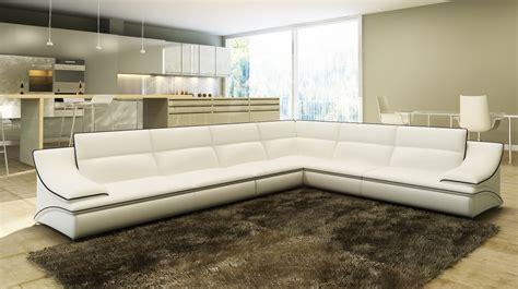 canapé d angle cuir blanc deco in canape d angle cuir design blanc et noir