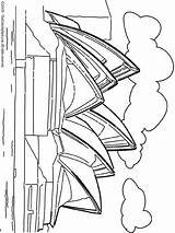 Sydney Opera Wonders Coloring Colouring Worlds Australia Wonder Building Pop Printables Lightupyourbrain sketch template