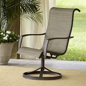 Garden Oasis Providence 1pk Sling Swivel Chair