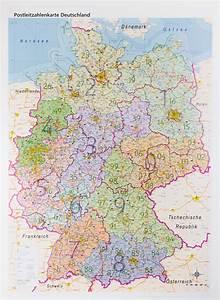 Berlin Plz Karte : postleitzahlenkarte deutschland folienbeschichtet ~ One.caynefoto.club Haus und Dekorationen