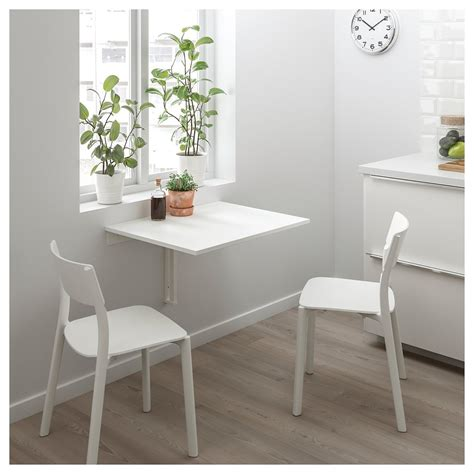 norberg wall mounted drop leaf table white  cm ikea