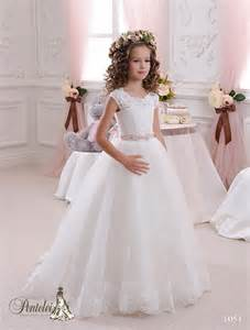 toddler dresses for wedding 2016 wedding dresses with cap sleeves neck appliques tulle gown flower