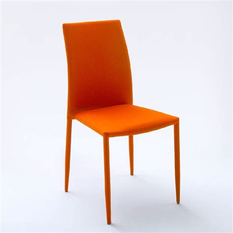 mila upholstered orange dining chair 21901 furniture in