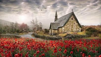 Irish Backgrounds Ireland Desktop Wallpapers Church Field