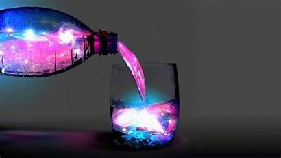 Galaxy Cosmos Liquid Wallpapers Bottles Different Desktop